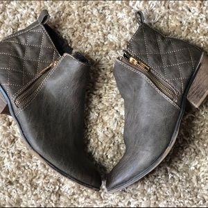 Rustic grey booties
